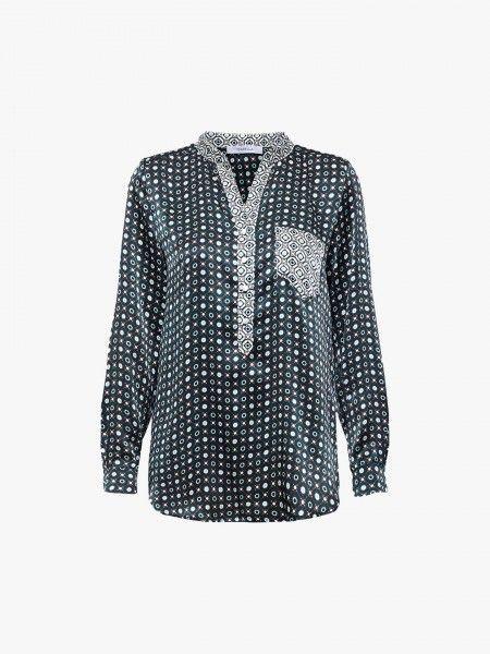 Blusa padrão geométrico