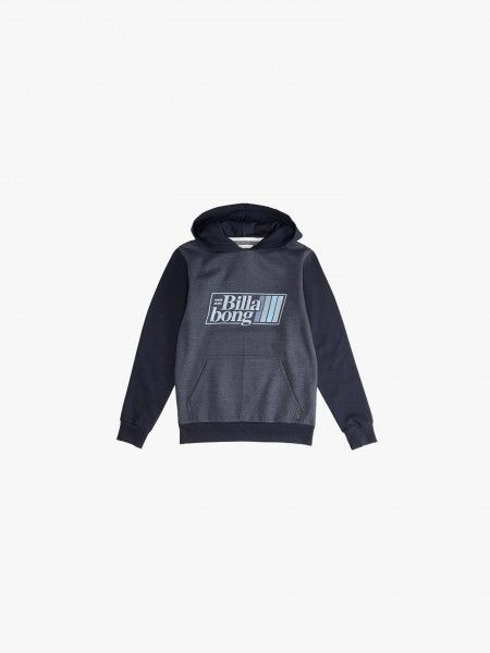 Sweatshirt color block estampada
