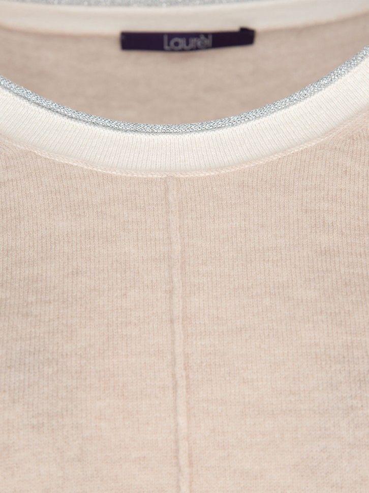 Camisola de malha com nervuras