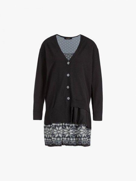Conjunto casaco e blusa