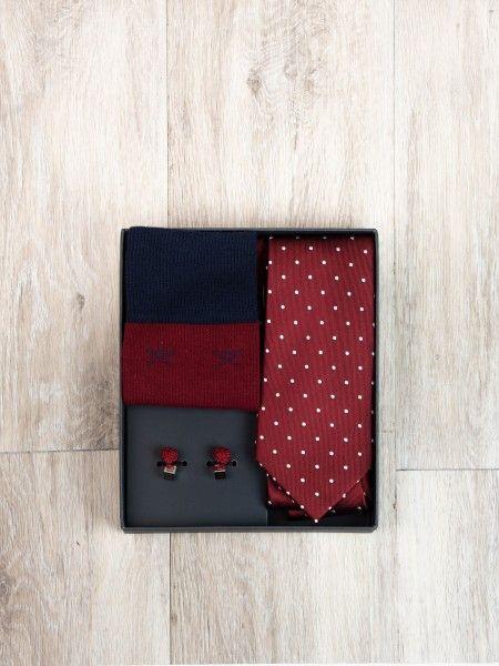 Pack gravata, meias e botões de punho
