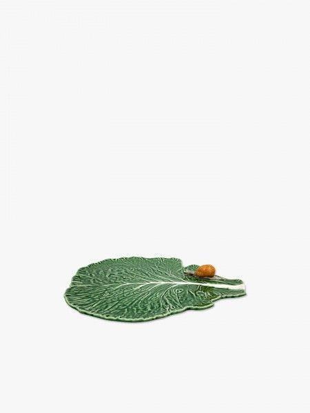 Folha com caracol natural