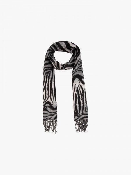Cachecol padrão de zebra