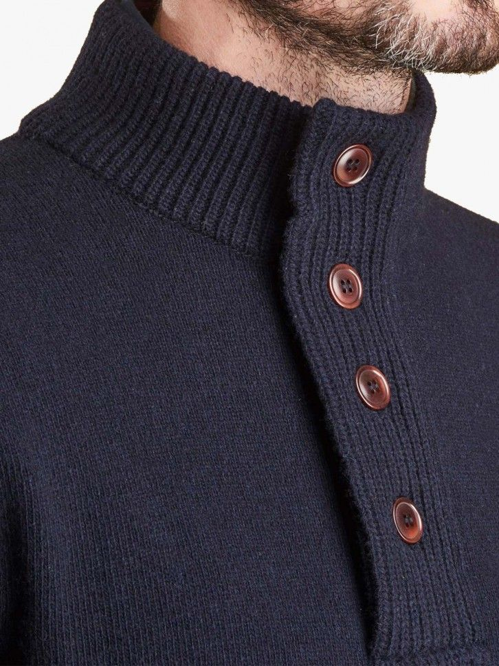 Pullover malha canelada