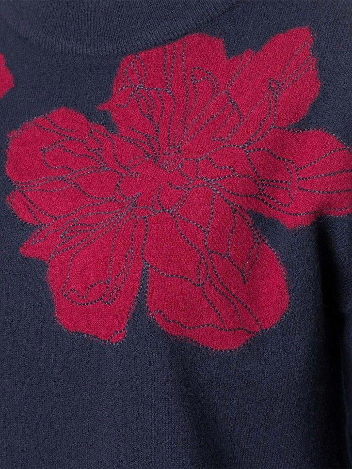 Camisola de malha com flores