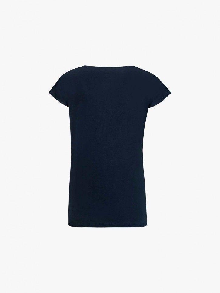 T-shirt decote em bico
