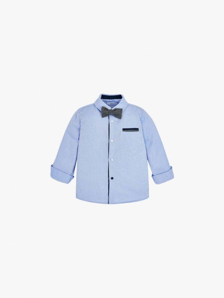 Camisa manga comprida com laço