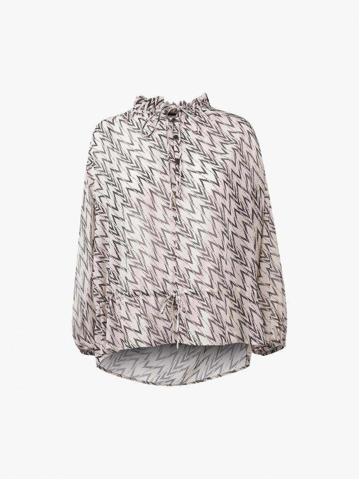 Blusa estampado geométrico