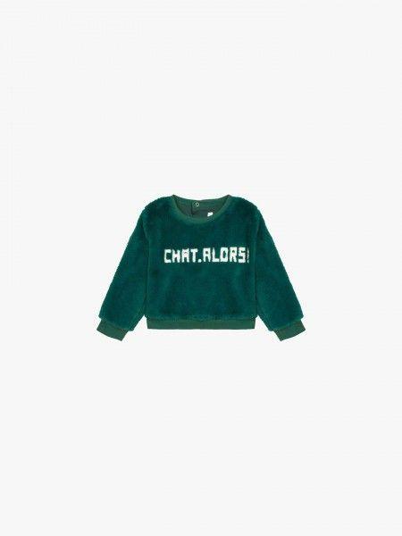 Sweatshirt com textura