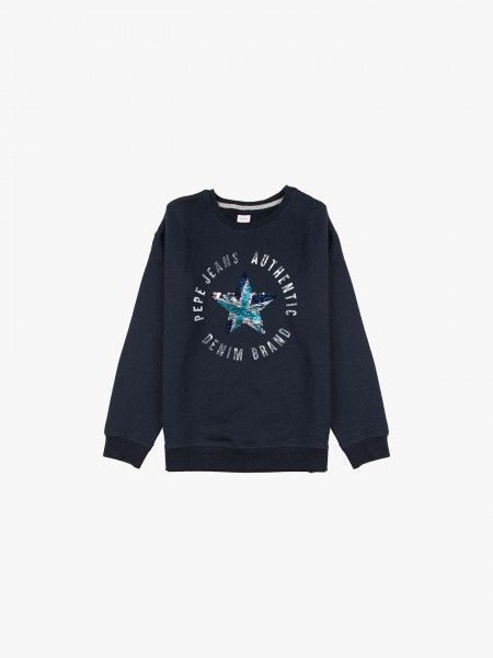 Sweatshirt com lantejoulas