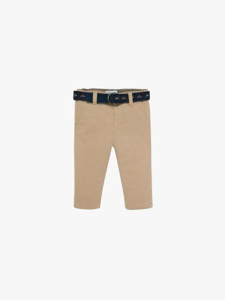 Calça chino regular fit com cinto