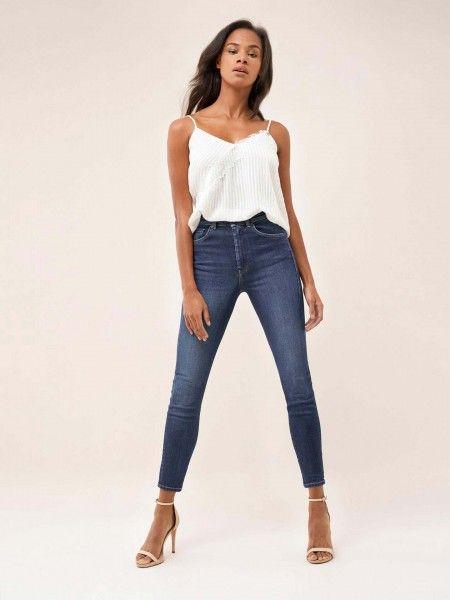 Jeans slimming elegant cintura alta
