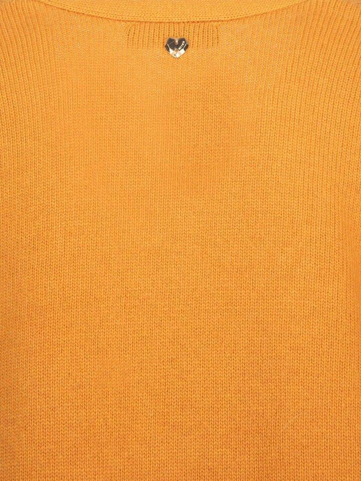 Casaco de malha bordado