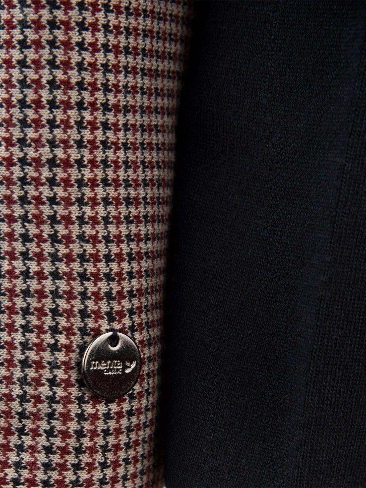 Casaco de malha tricolor