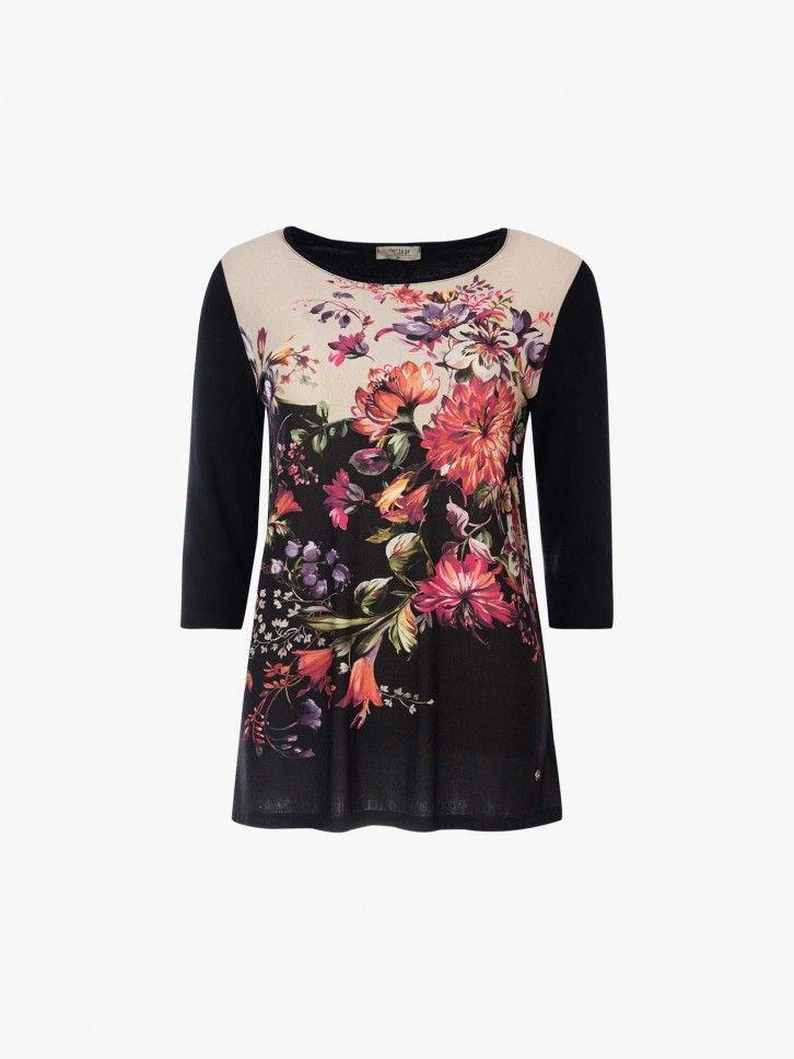 Camisola com estampado floral
