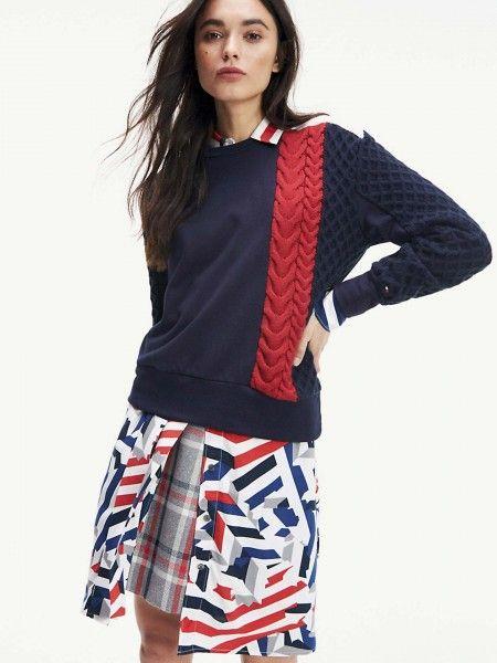 Sweatshirt combinada