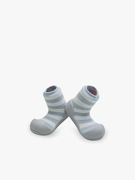 Sapato para bebé às riscas