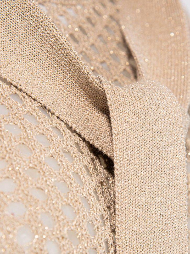 Camisola de malha perfurada