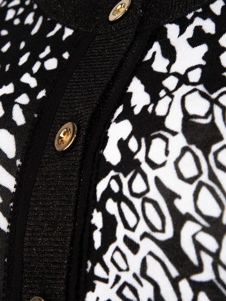 Casaco de malha com animal print