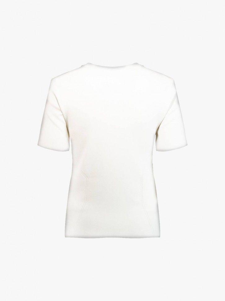 T-shirt com pesponto