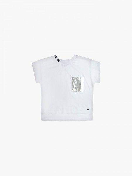 T-Shirt cropped com bolso