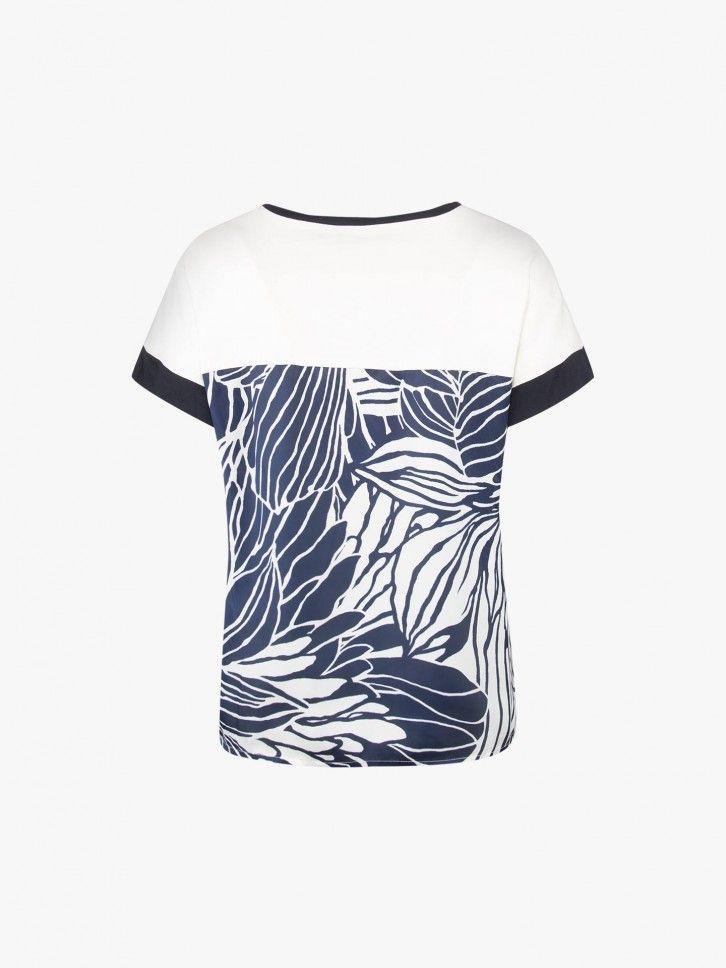 T-shirt com flor