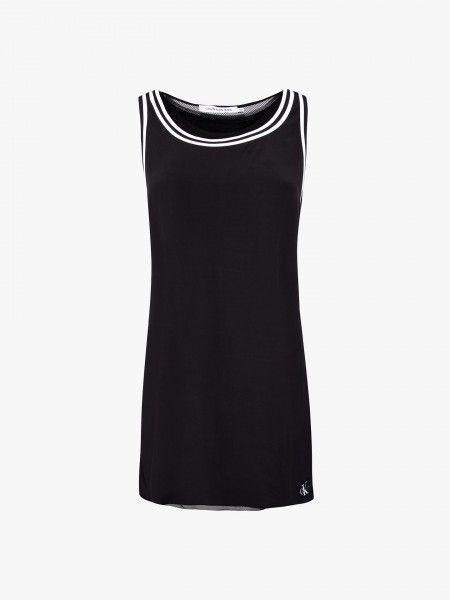 Vestido curto combinado