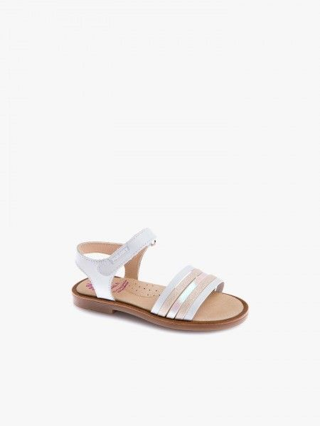 Sandálias com tira de velcro