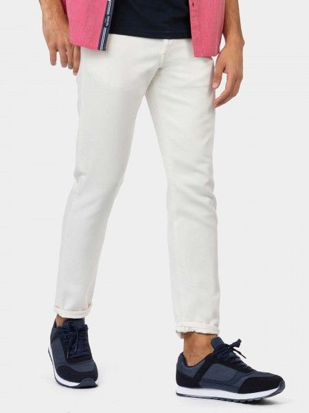 Calças tapered fit cropped