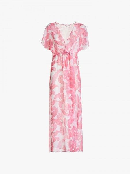 Vestido comprido de estampado floral