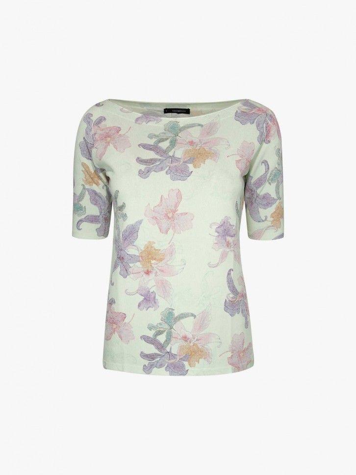 T-shirt padrão floral
