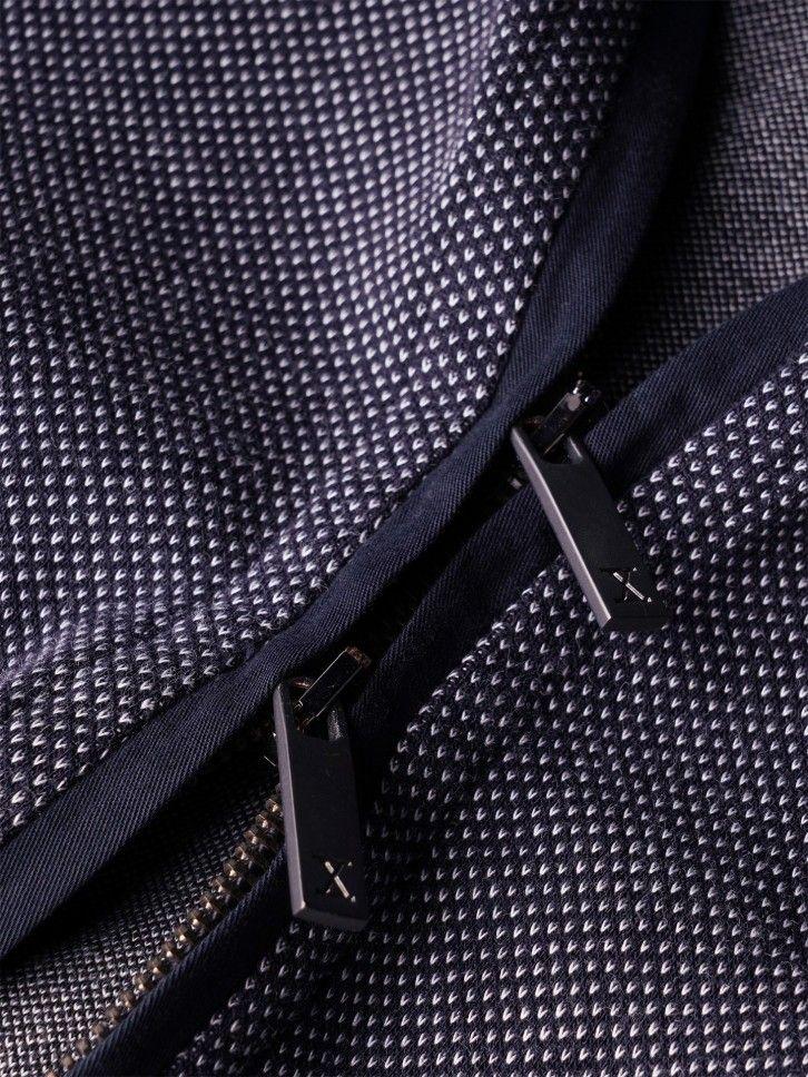 Casaco de malha micro padrão