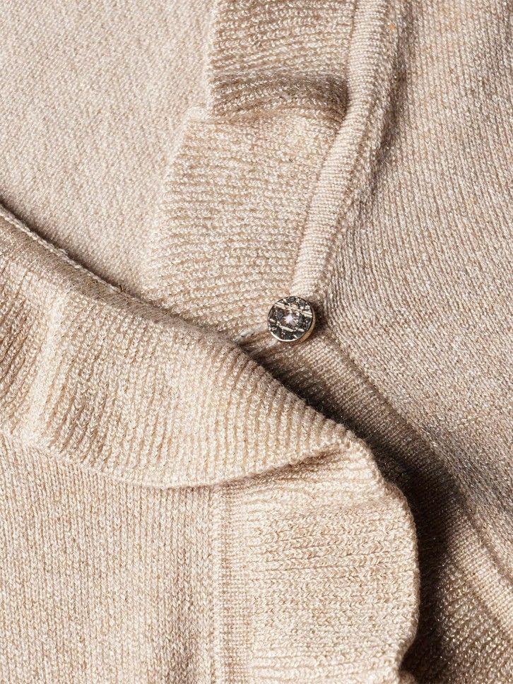 Casaco de malha com folho