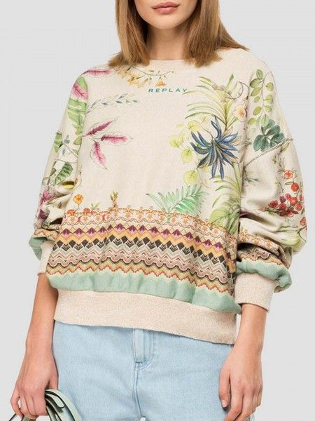 Sweater com estampado étnico