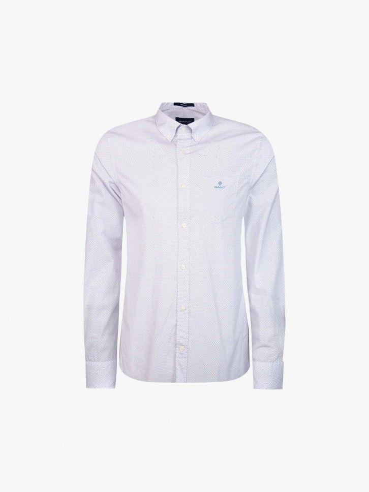 Camisa Regular Fit Micro Padrão