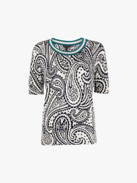 T-shirt padrão Paisley