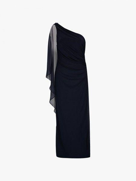 Vestido de ceromónia assimétrico