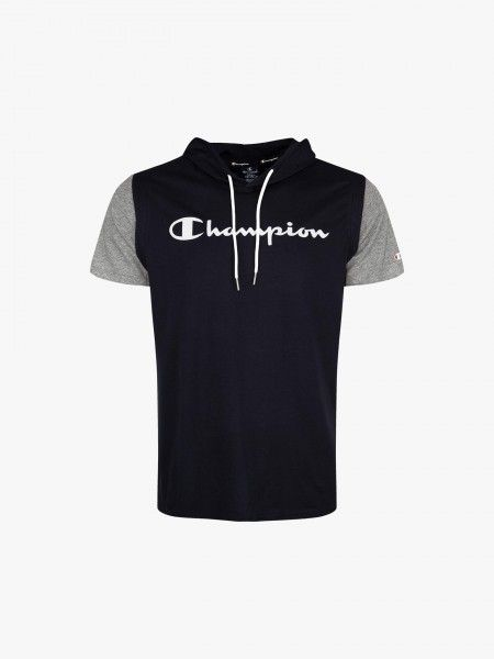T-Shirt Bicolor com capuz