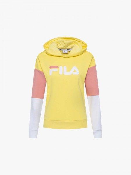 Sweatshirt color block com capuz