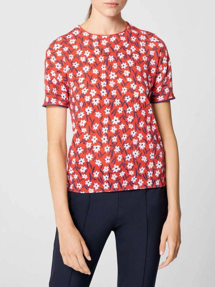 Camisola de manga curta floral