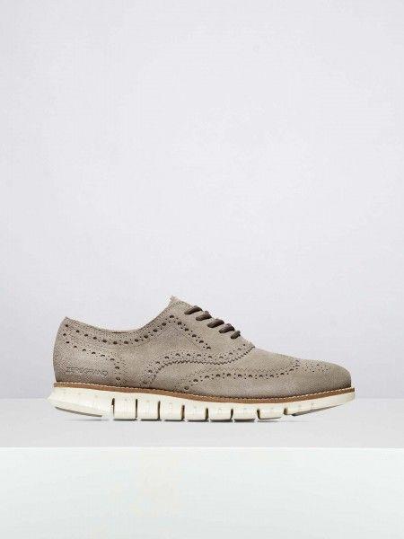 Sapatos Oxford em suede