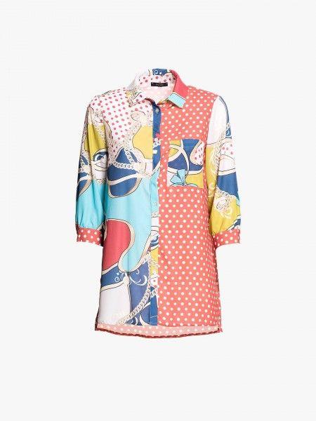 Camisa mangas 3/4 padrões