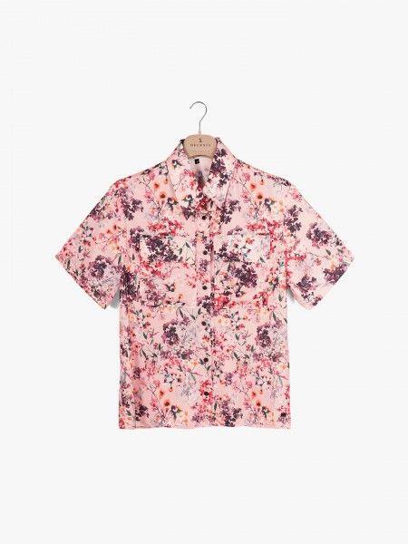 Camisa floral de manga curta