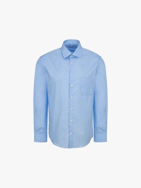 Camisa regular fit com bolso