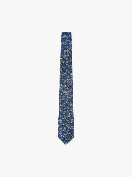 Gravata estampada em seda