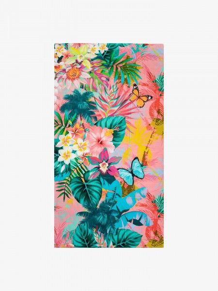 Toalha de praia com padrão floral