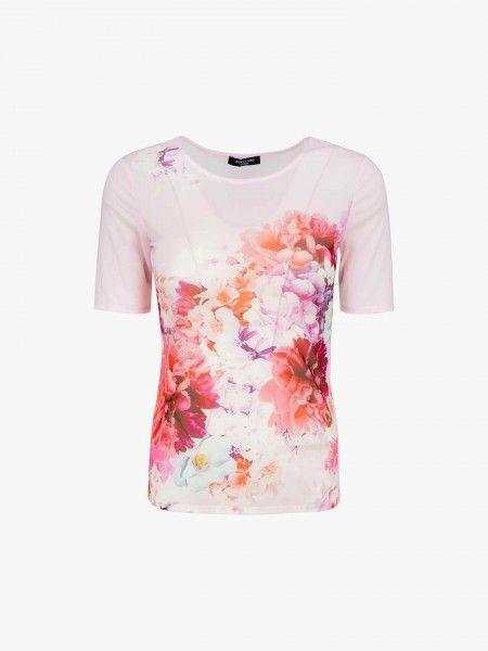 T-shirt semi transparente floral