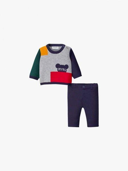 Conjunto camisola e calças