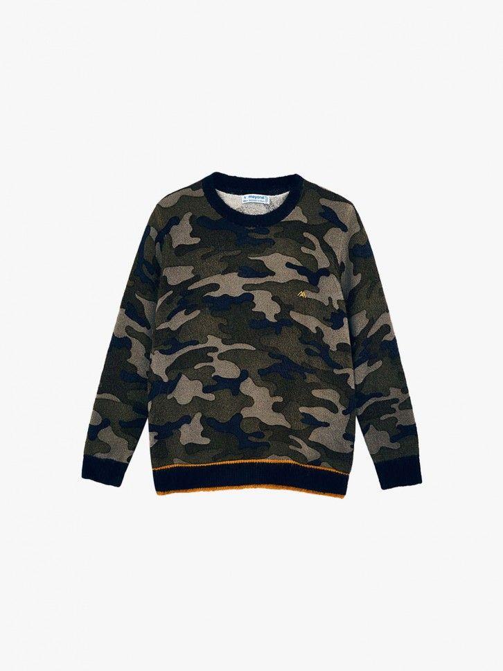 Camisola de malha padrão militar