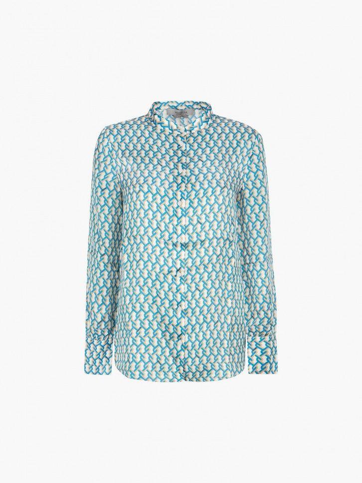 Camisa com padrão geométrico